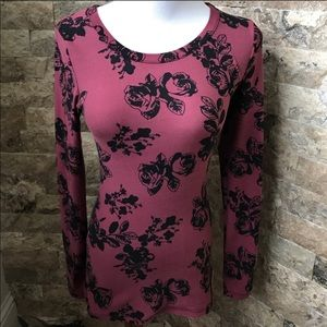 Rue 21 Floral Long Sleeve Top
